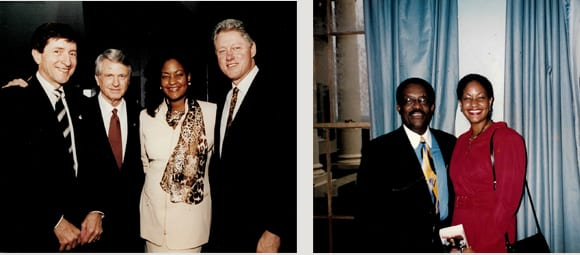 Tanya Jeffords with the Clintons